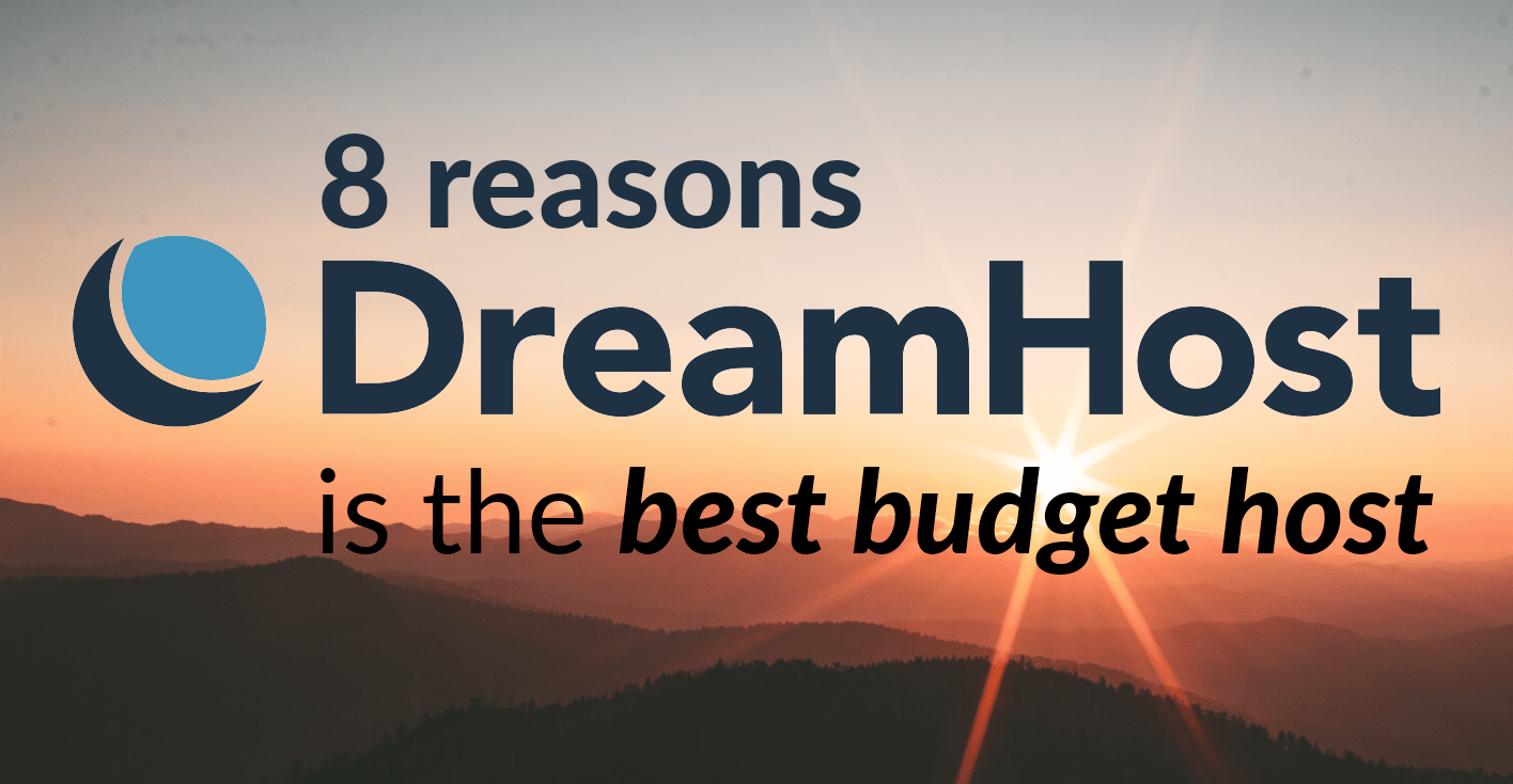 best budget hosting Dreamhost